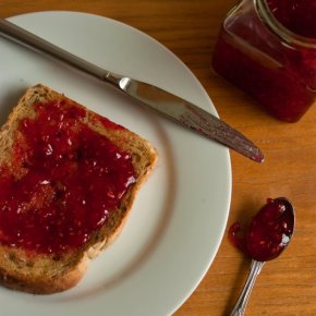 Raspberry and Lemongrass Jam + 'Notes From The Jam Cupboard' by Mary Tregellas