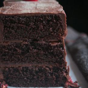 Chocolate raspberry layercake