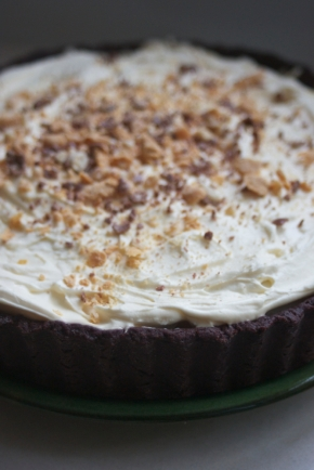 A banoffee pie tricked out with chocolate
