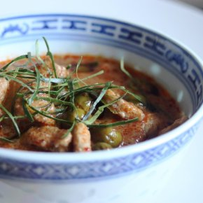 Panaeng Curry with Pork and Pea Aubergines(พะแนงหมู)