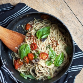 Pasta with Francis Lam's Let-My-Eggplant-Go-Free! Sauce
