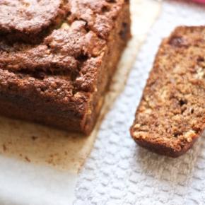 Deb's jacked-up banana bread with wonderfully unnecessary chocolatechunks