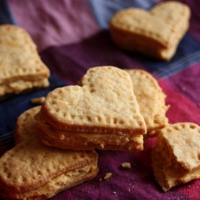Heart-shaped Custard Creams